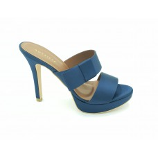 "AUSSILIA ""Flaming"" Navy Satin Stiletto Shoe"