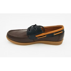 "AIROS ""Esquire"" Brown Boat Shoe"