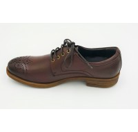 "AIROS ""Monaco"" Red Brown Oxfords"
